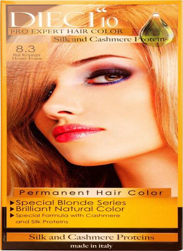 Dıecı Dıecı 10 Eko Kit Saç Boyası 8,3 Bal Köpüğü Sarı